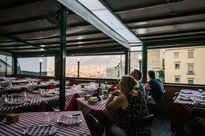 The terrace at Totò Eduardo E Pasta E Fagioli, photo by Gianni Cipriano and Sara Smarrazzo