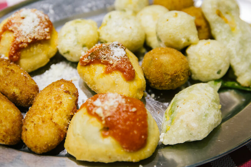 Fried panzarotti, photo by Gianni Cipriano and Sara Smarrazzo