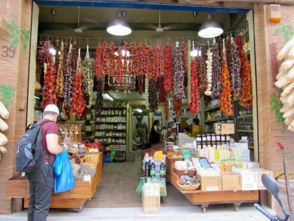Anatolian vegetable casings on Evripidou, photo by Diana Farr Louis