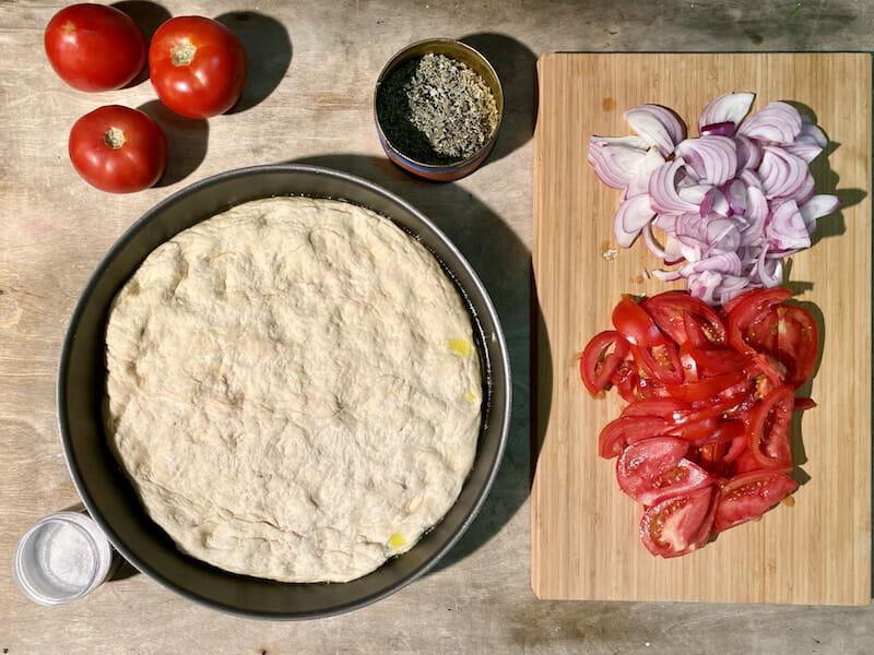 prepping ladenia recipe