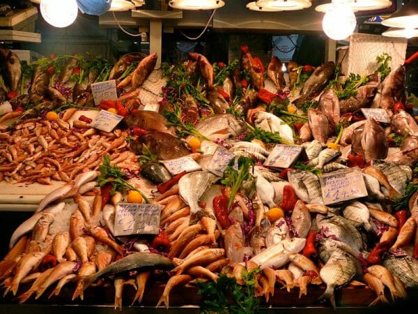 Seafood at Varvakeio Central Market, photo by Diana Farr Louis