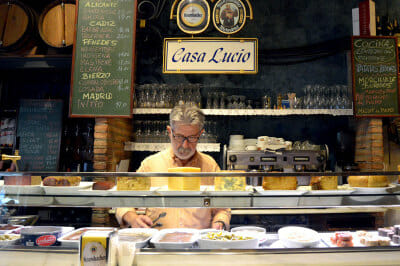 Lucio Rodríguez at Casa Lucio's bar, photo by Paula Mourenza