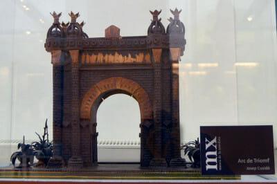 Chocolate Arc de Triomphe at the Museu de la Xocolata, photo by Paula Mourenza