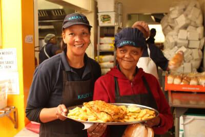 Servers at Kalky's, photo by Athena Lamberis