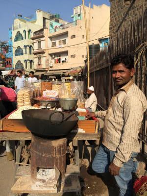 Asif, a street food vendor in Old Delhi, photo by Sarah Khan