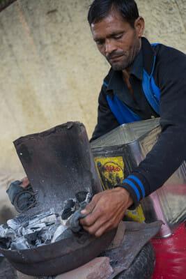 Dayal Singh Yadav, nankhatai maker, photo by Sarah Khan