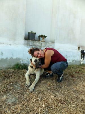 Zeynep Arca Salliel of Arcadia Vineyards with Haydut, photo by Roxanne Darrow