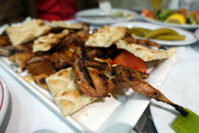 Grilled quail at Can Ocakbasi. Photo by Ansel Mullins