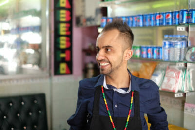 Ramazan, owner of an Ethiopian shop on Kumkapı, photo by Paul Osterlund