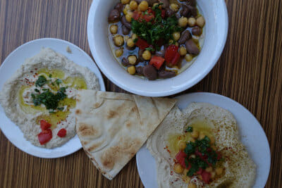 Farrooj al Zaeem's Syrian specialties, photo by Ansel Mullins