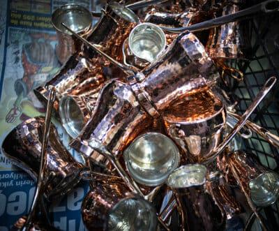 Soy Türkiye's handmade copper pots, photo by Monique Jaques