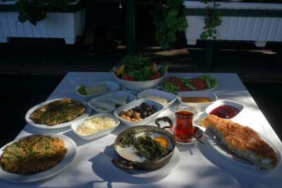 Black Sea specialties at Trabzon Kültür Derneği, photo by Monica Fritz