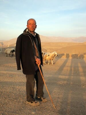 A shepherd in Çilesiz, photo by Yigal Schleifer