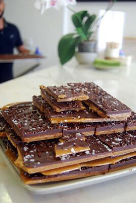 Bettina & Niccolò Corallo's 70% chocolate with toffee, photo by Celia Pedroso