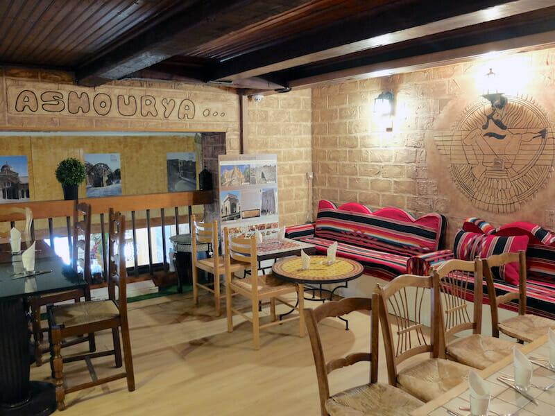 interior syrian restaurant marseille