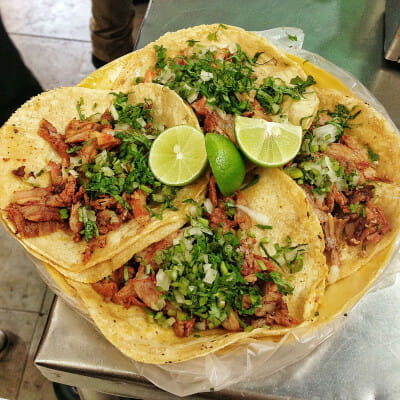 Al pastor tacos, photo by Jordana Rothman