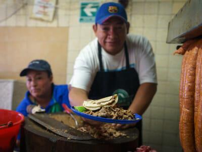 Los Parados de Don Pepe's beef taco, photo by PJ Rountree