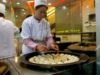 Dumplings at Guang Ming Cun, photo by UnTour Shanghai