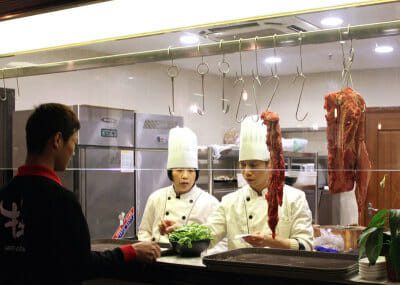 Meat is sliced to order for hotpot at Holy Cow, photo by UnTour Shanghai