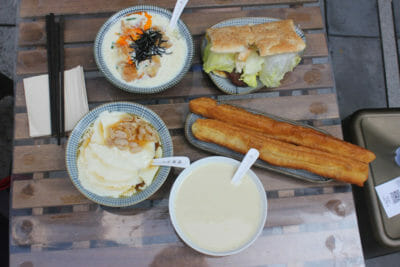 Taiwanese breakfast at Taoyuan Village, photo by UnTour Shanghai