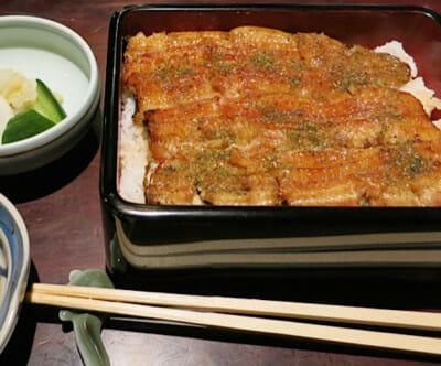 Eel, Nodaiwa's specialty, photo by Fran Kuzui