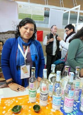 Karina Abad Rojas of the Los Danzantes mezcal co-op, photo by Roxanne Darrow